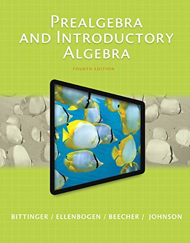 Prealgebra and Introductory Algebra Plus MyMathLab with Pearson EText  4th 2016 edition cover