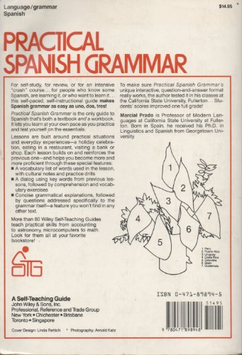 Practical Spanish Grammar : A Self Teaching Guide  1983 9780471898948 Front Cover