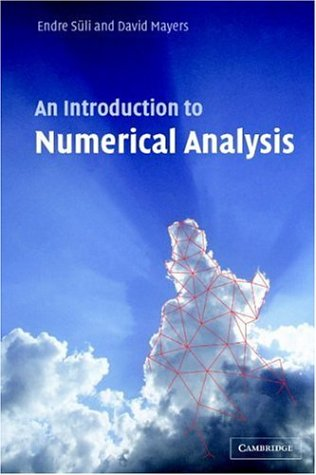 Introduction to Numerical Analysis   2002 edition cover