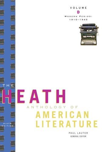 American Literature Modern Period, 1910-1945 6th 2010 edition cover