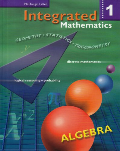Integrated Mathematics  Student Manual, Study Guide, etc.  9780618073948 Front Cover
