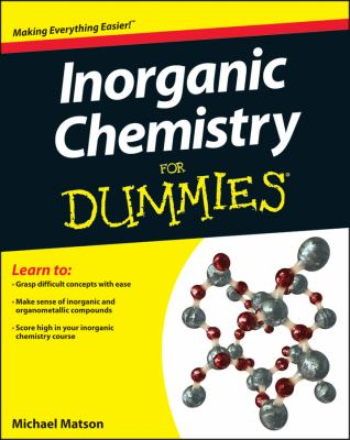 Inorganic Chemistry for Dummies   2013 edition cover