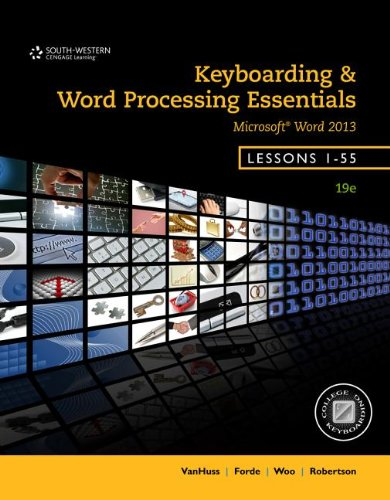 Keyboarding and Word Processing Essentials, Lessons 1-55:   2013 edition cover