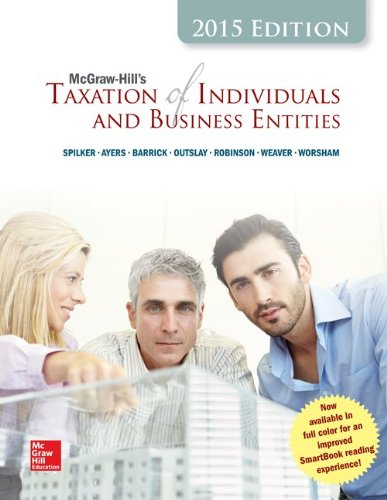 Loose-Leaf for Mcgraw-Hill's Taxation of Individuals and Business Entities, 2015 Edition  6th 2015 edition cover