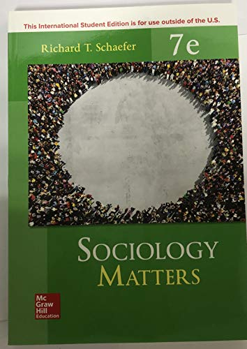 Sociology Matters 7e  7th 9781260084948 Front Cover