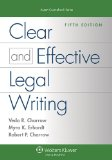 Clear and Effective Legal Writing  5th edition cover