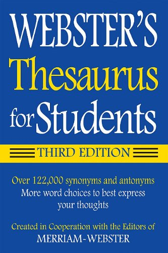 Webster's Thesaurus for Students, Third Edition  3rd 2010 edition cover