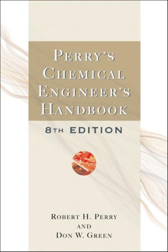 Perry's Chemical Engineers' Handbook  8th 2008 (Revised) edition cover