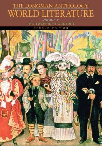 Longman Anthology of World Literature The Twentieth Century 2nd 2009 edition cover