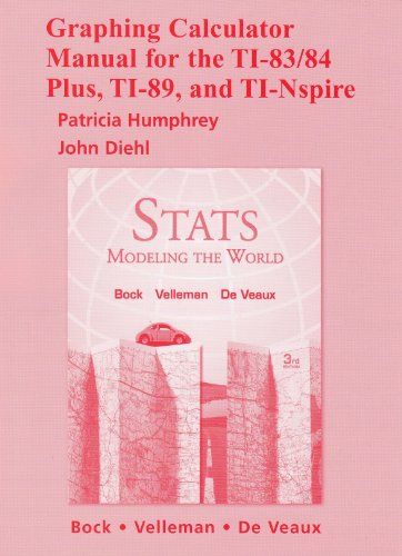 Graphing Calculator Manual for Stats Modeling the World 3rd 2010 edition cover