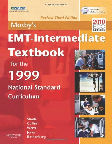 EMT-Intermediate Textbook for the 1999 National Standard Curriculum  3rd 2012 (Revised) edition cover