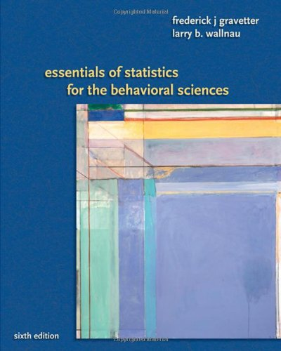 Essentials of Statistics for the Behavioral Science  6th 2008 edition cover