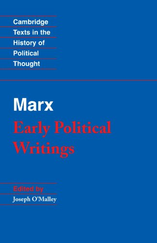Marx Early Political Writings  1994 edition cover