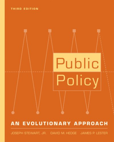 Public Policy An Evolutionary Approach 3rd 2008 (Revised) 9780534574949 Front Cover