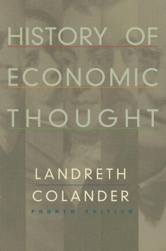 History of Economic Thought 4th 2002 edition cover