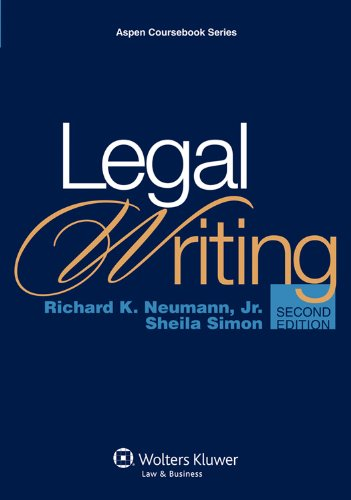 Legal Writing  2nd 2011 (Revised) edition cover