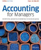 Accounting for Managers - Interpreting Accounting Information for Decision Making  5th 2015 edition cover