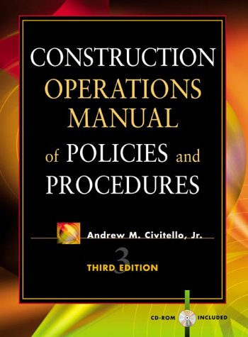 Construction Operations Manual of Policies and Procedures  3rd 2000 (Revised) 9780071354950 Front Cover