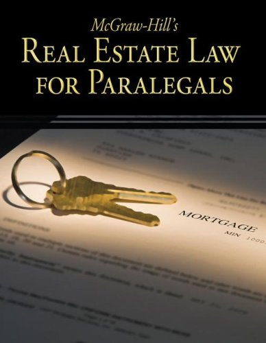 McGraw-Hill's Real Estate Law for Paralegals   2009 edition cover