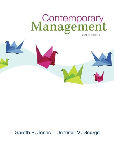 Loose Leaf Contemporary Management  8th 2014 edition cover