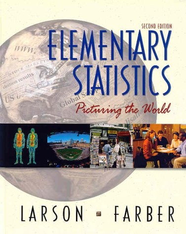 Elementary Statistics Picturing the World 2nd 2003 9780130655950 Front Cover