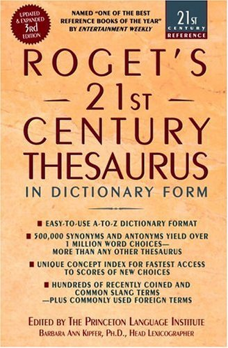 Roget's 21st Century Thesaurus  3rd 2005 edition cover
