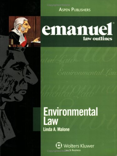 Emanuel Law Outlines Environmental Law Outline 2006 Student Manual, Study Guide, etc.  edition cover