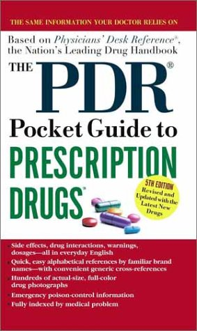 PDR Pocket Guide to Prescription Drugs 5th 2002 (Reprint) 9780743437950 Front Cover