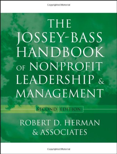 Jossey-Bass Handbook of Nonprofit Leadership and Management  2nd 2004 (Revised) edition cover