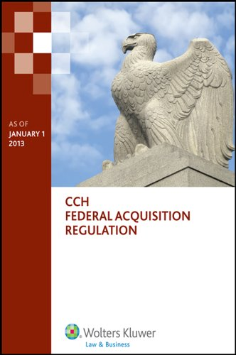 Federal Acquisition Regulation (FAR) - As of January 1 2013  N/A 9780808033950 Front Cover