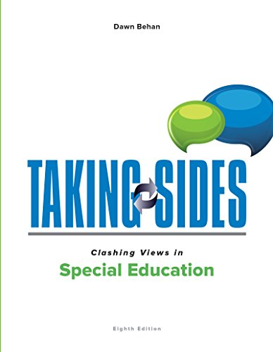 Taking Sides: Clashing Views in Special Education  2016 9781259665950 Front Cover