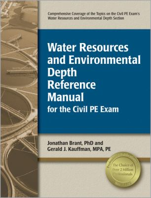 Water Resources and Environmental Depth Reference Manual for the Civil PE Exam  N/A edition cover