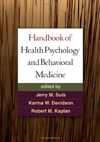Handbook of Health Psychology and Behavioral Medicine   2010 edition cover