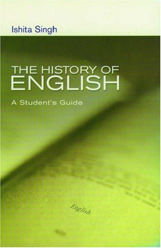 History of English A Student's Guide  2005 (Student Manual, Study Guide, etc.) edition cover