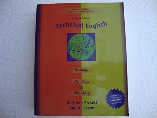 Technical English : Writing, Reading and Speaking 7th (Teachers Edition, Instructors Manual, etc.) edition cover