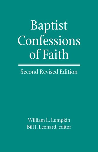 Baptist Confessions of Faith   2011 9780817016951 Front Cover