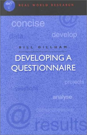 Developing a Questionnaire   2000 edition cover