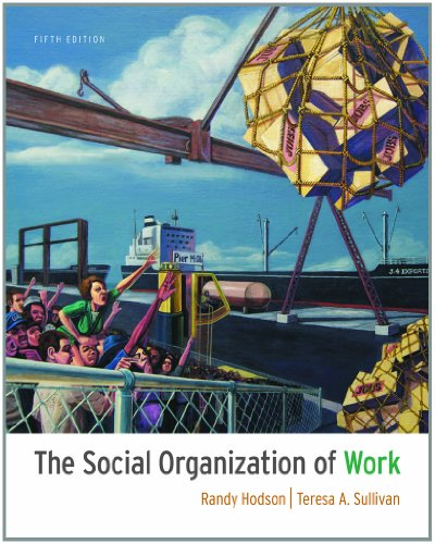 Social Organization of Work  5th 2012 edition cover