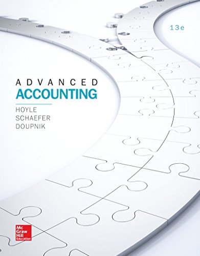 Advanced Accounting: 13th 2016 9781259444951 Front Cover