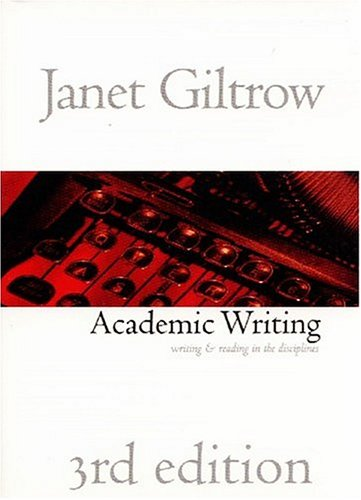 Academic Writing Writing and Reading Across the Disciplines 3rd 2001 (Revised) 9781551113951 Front Cover