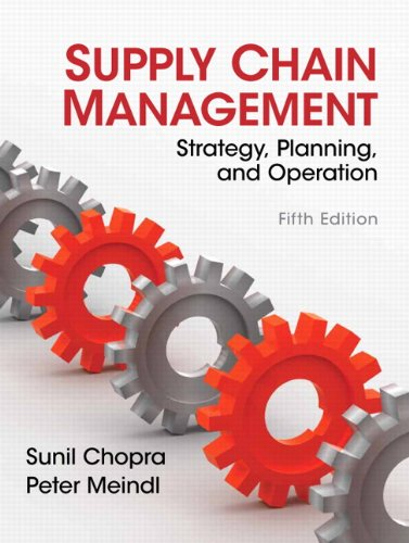 Supply Chain Management  5th 2013 (Revised) edition cover