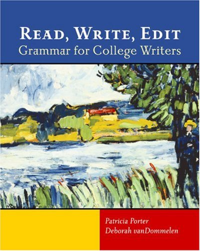 Read, Write, Edit Grammar for College Writers  2005 edition cover