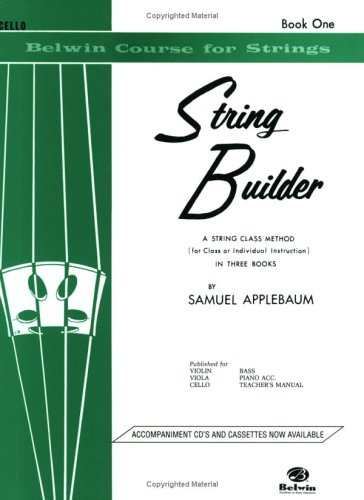 Belwin String Builder - Cello   1985 edition cover