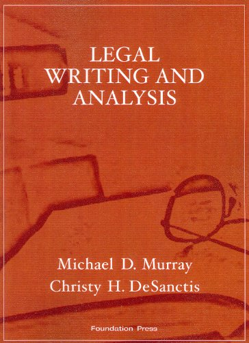 Legal Writing and Analysis  2nd 2009 (Revised) 9781599413952 Front Cover