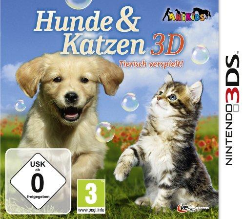 Hunde & Katzen 3D: Tierisch verspielt! Nintendo 3DS artwork