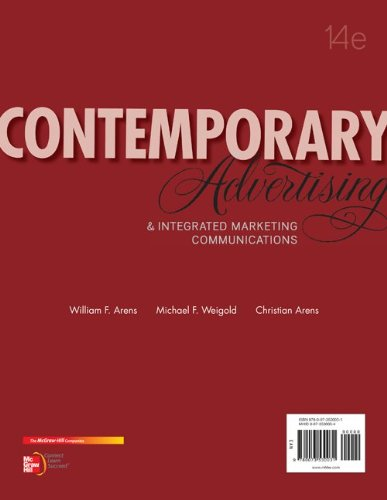 Contemporary Advertising And Integrated Marketing Communications 14th 2013 9780078028953 Front Cover