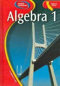 Algebra 1: California Edition  2004 edition cover