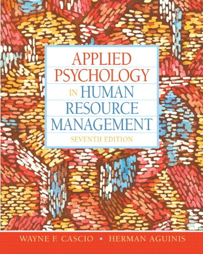 Applied Psychology in Human Resource Management  7th 2011 edition cover