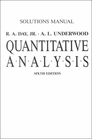 Quantitative Analysis 6th (Student Manual, Study Guide, etc.) 9780137473953 Front Cover