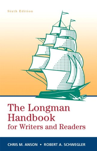 Longman Handbook for Writers and Readers  6th 2011 9780205741953 Front Cover